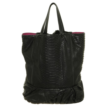 Zagliani Python leather Tote bag