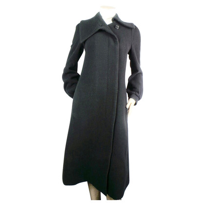 Dries van Noten black wool coat