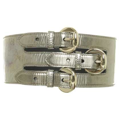 Alexander McQueen Waist belt with metallic-look