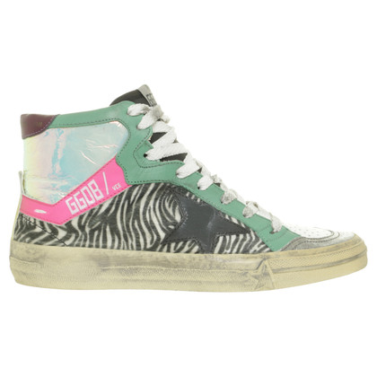 Golden Goose Sneakers mit Material-Mix