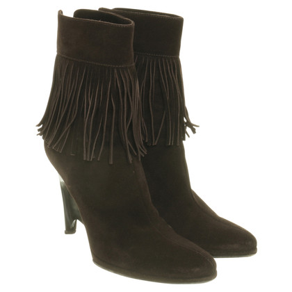 Helmut Lang Ankle boots with fringe trim