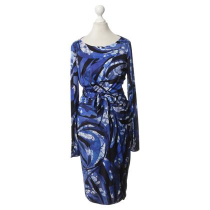 Emilio Pucci Silk dress in shades of blue
