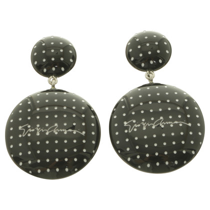 Armani Clip earrings with signature
