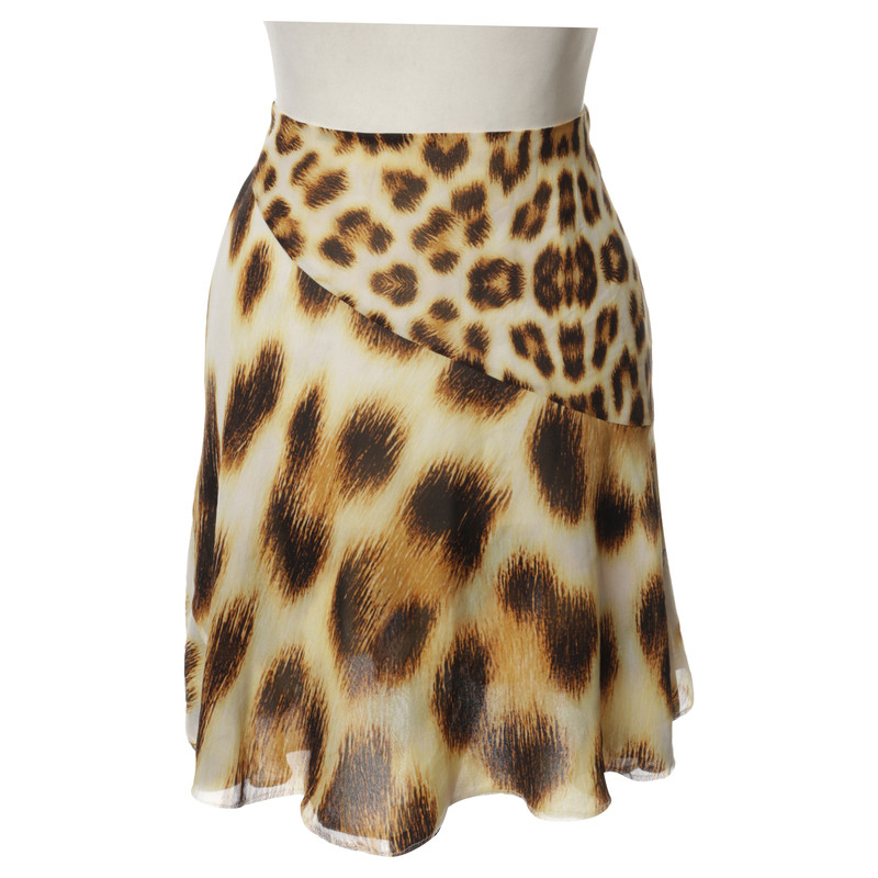 Roberto Cavalli skirt with Leopard print