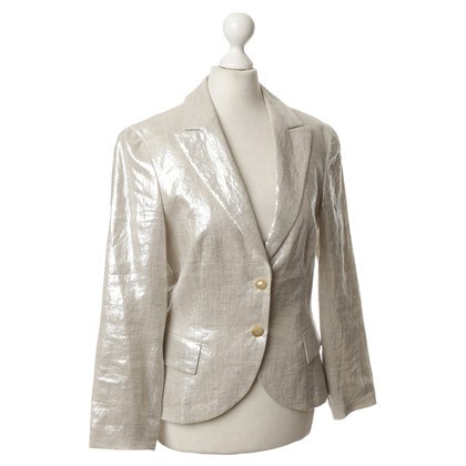 Altre marche Féraud - Blazer in lino metallizzato