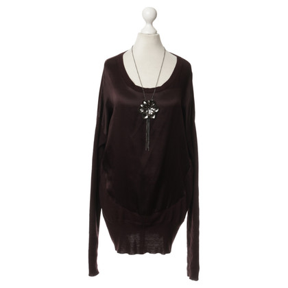 Patrizia Pepe Sweater with Flower necklace