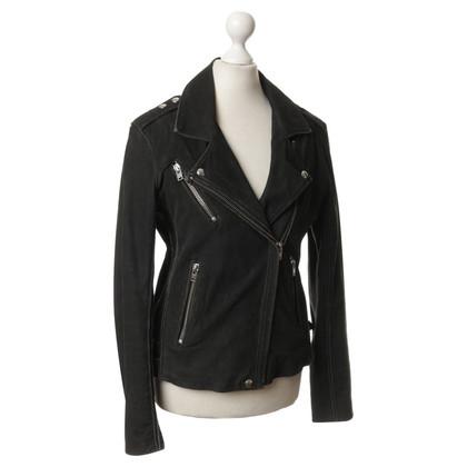 Iro Lederen jas in zwart