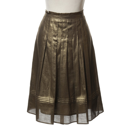 Luisa Cerano skirt in gold metallic