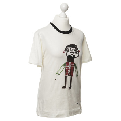 Marni for H&M T-Shirt in gebrochenem Weiß