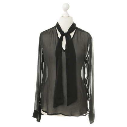 Balmain Knop transparant blouse