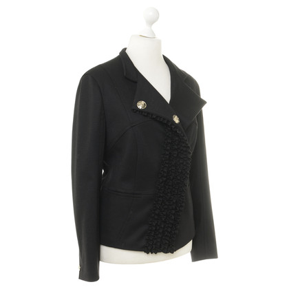 René Lezard Jacket with ruffle trim