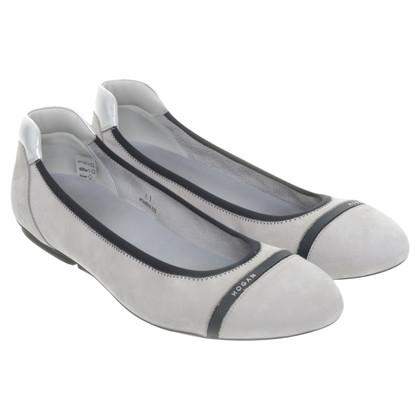 Hogan Ballerinas in light grey