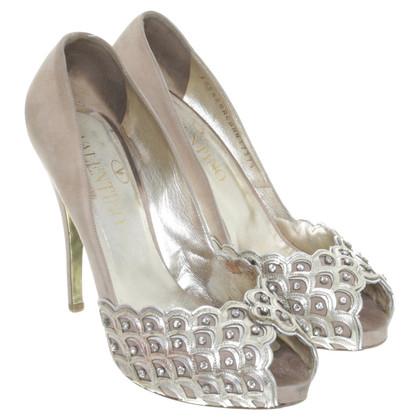 Valentino Peep-toes with Rhinestone trim