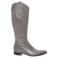 Santoni Leather boots in grey