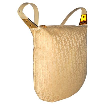 Christian Dior logo doek schouder tas