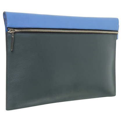 Victoria Beckham clutch in green-blue