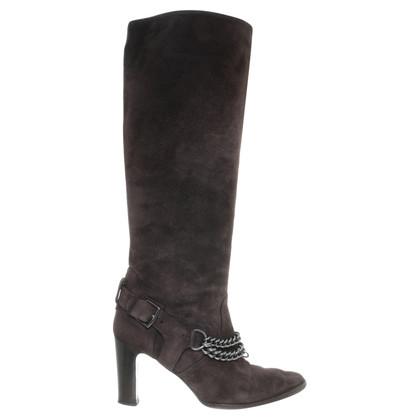Hermès Stiefel aus Wildleder