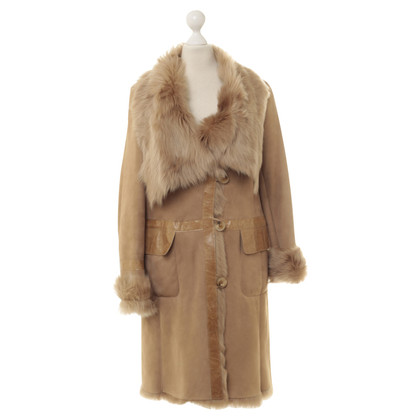 Karl Donoghue Suede coat with fur lining