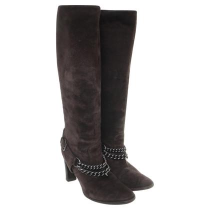Hermès Stivali in pelle scamosciata