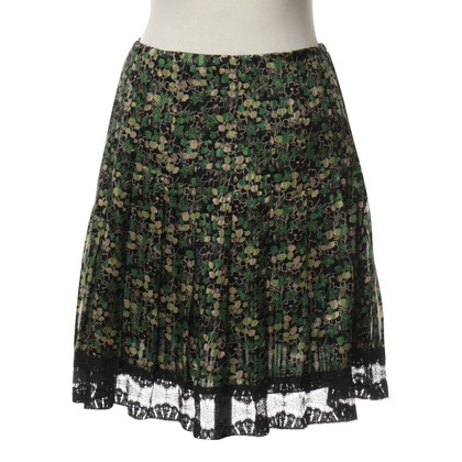 Anna Sui skirt with flower pattern