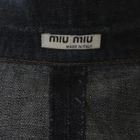 Miu Miu Giacca di jeans in blu
