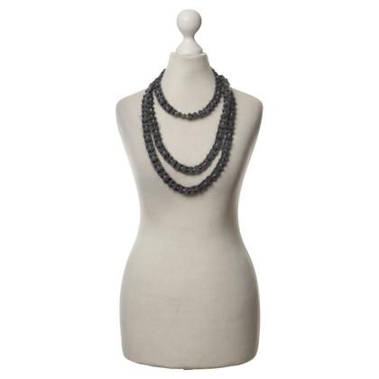 Fabiana Filippi Textile necklace with semi-precious stones