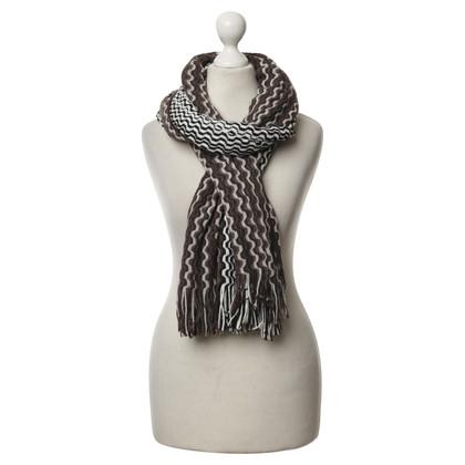 Missoni Knit scarf with fringe