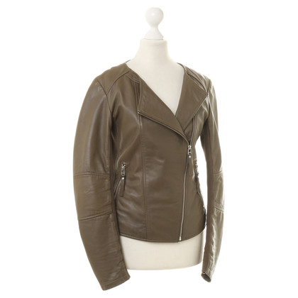 Pinko Leather jacket in olive