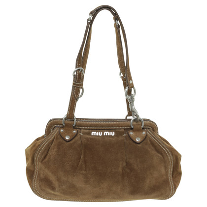Miu Miu Brown suede handbag