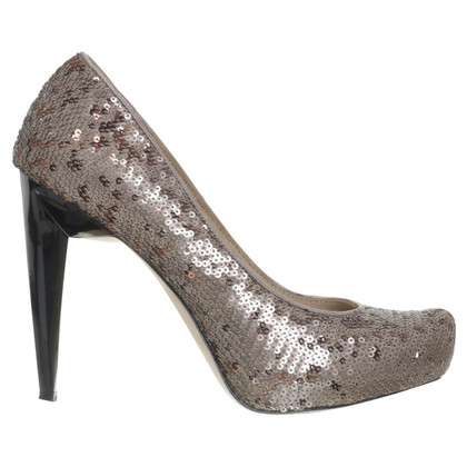 BCBG Max Azria pumps con paillettes trim