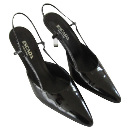 Escada Slingbacks patent leather