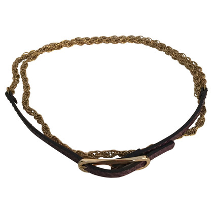 Diane von Furstenberg Snake leather chain belt