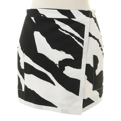 Balmain Mini rok in zwart wit