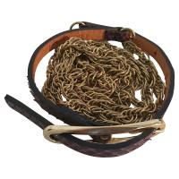 Diane von Furstenberg Catena cintura in pelle di serpente