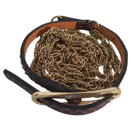 Diane von Furstenberg Snake lederen keten riem