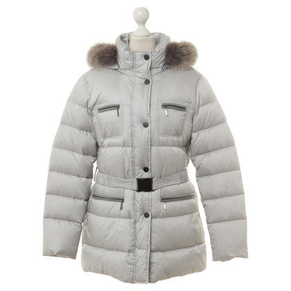 Basler Down coat with Fox fur trim