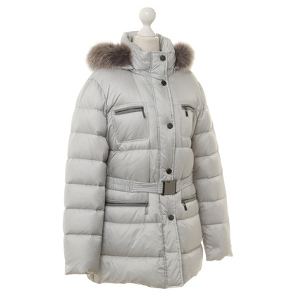 Basler Beneden coat met Fox bont trim