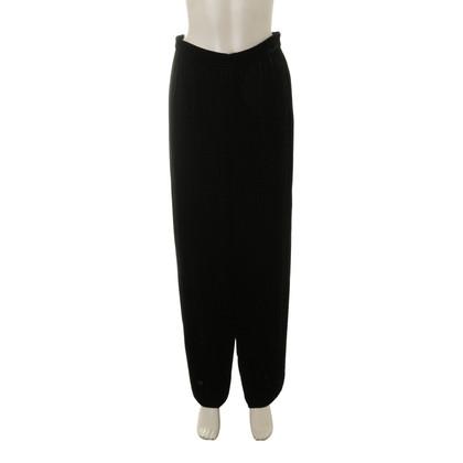 Armani Velours broek in zwart