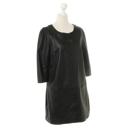 Arma Dress with leather front