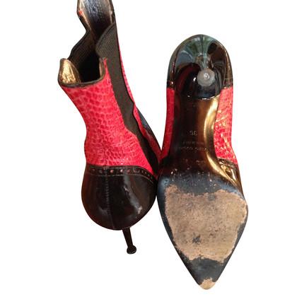 Dolce & Gabbana Stiefel aus Python-Leder