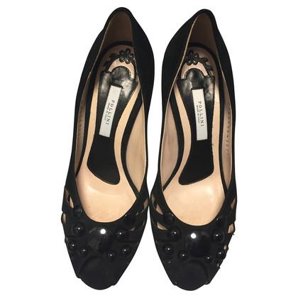 Pollini Peep-toes with semi-precious stones
