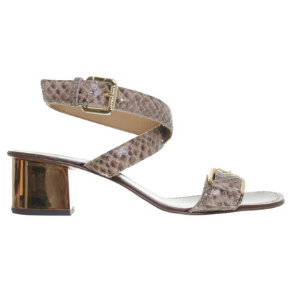 L'autre Chose Sandals made of reptile leather