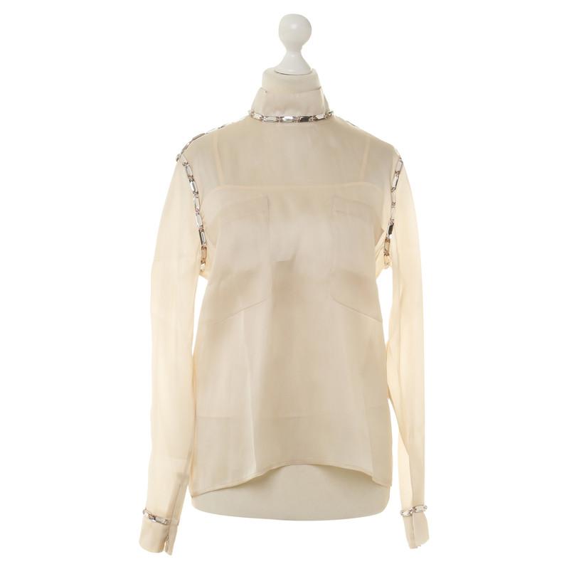 Issa Zijde blouse met semi-edelstenen