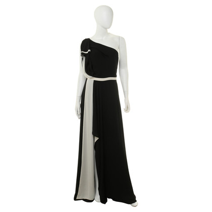 Halston Heritage Asymmetric dress in black