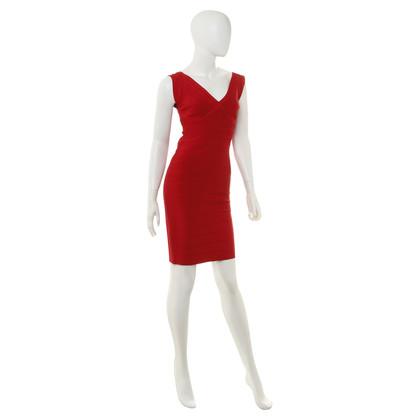 """Herve Leger """"Karima"""" jurk in het rood"""