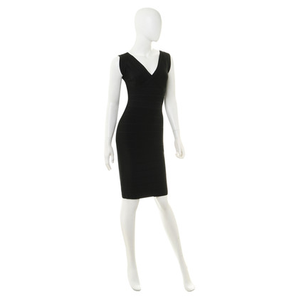 "Herve Leger ""Karima"" in black dress"
