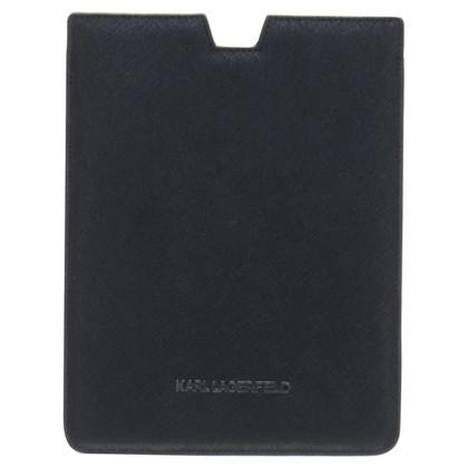 Karl Lagerfeld Ik pad mini geval in zwart