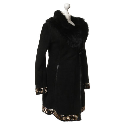 Philipp Plein Suede coat with rivets