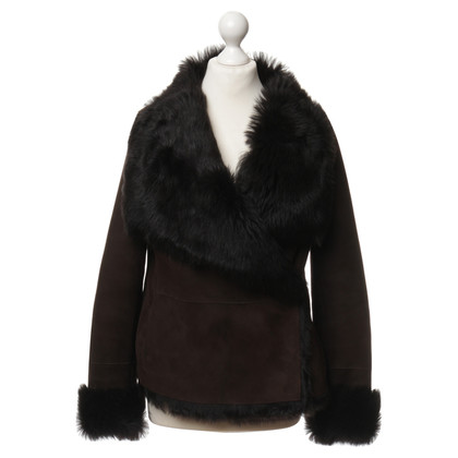 Marc Cain Reversible Jacket with leather and fur