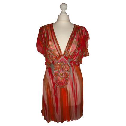 Antik Batik Top in seta con pietre preziose